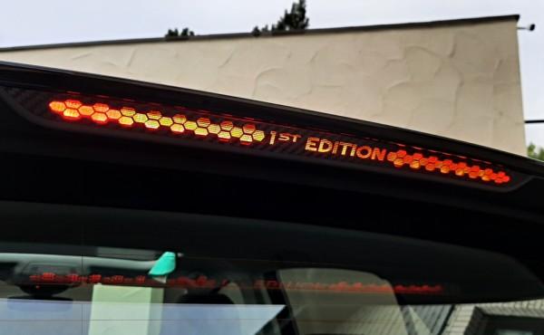 1 Foliendekor in Carbonoptik für die dritte Bremsleuchte 1st Edition