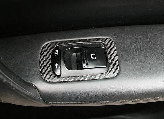 1 Set Foliendekor Carbonoptik für die Fensterheber hinten