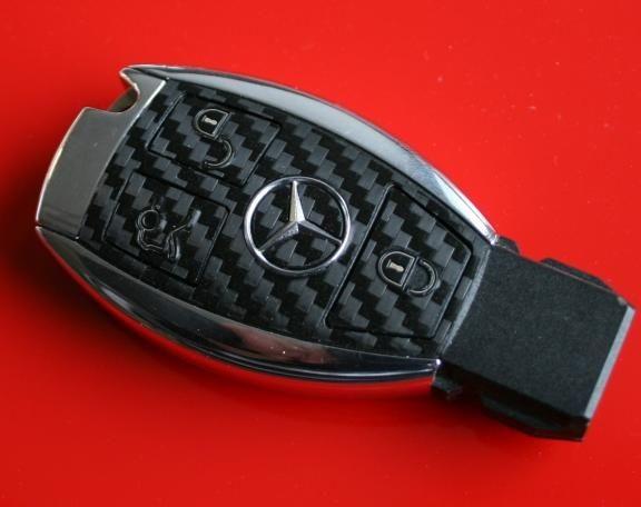 #8 Schlüsselfolie in Carbonoptik Mercedes Benz 3 Button
