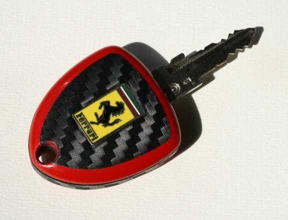 Schlüsselfolie Carbonoptik Ferrari F599