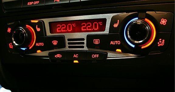 1 Aluminium Zierblende Klimaanlage (Nicht für FL)