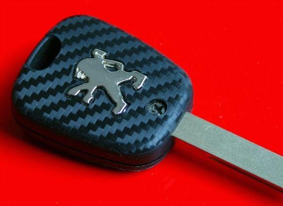 #2 Schlüsselfolie in Carbonoptik Peugeot Modelle