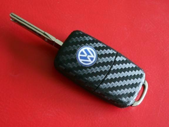 #4 Schlüsselfolie in Carbonoptik VW Modelle mit der LED oben
