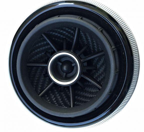 Beklebeset Carbon schwarz für die Lüfterdüsen in RS LOOK