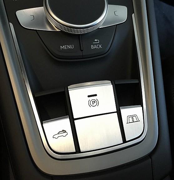 1 Set Aluminium Dekorblende für die Schalter Mittelkonsole 5 teilig Cabrio