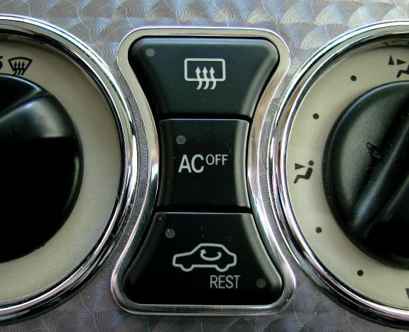 1 Aluminium Zierrahmen für die Klimabedienung