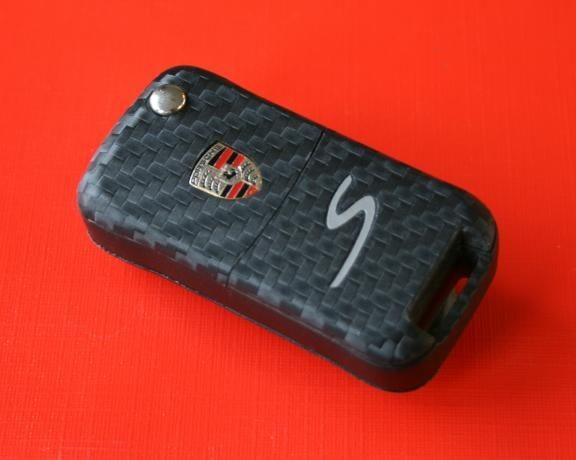 #6 Schlüsselfolie in Carbonoptik Porsche Modelle mit S Prägung