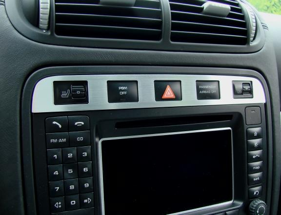 1 Aluminium Dekorblende Schalterleiste Warnblinkschalter/ Sitzheizung