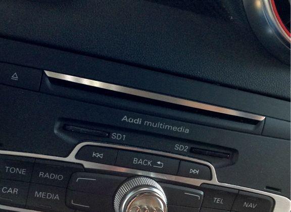 1 Aluminium Dekorleiste für den Radio CD-Schacht