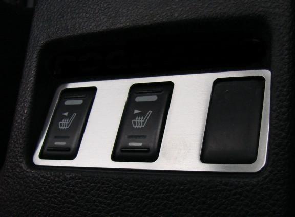 1 Aluminium Dekorrahmem für die Schalterleiste Sitzheizuung (vor Facelift)