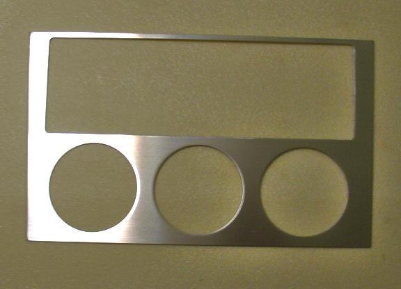 1 Aluminium Dekorblende für die Mittelkonsole/ große Ausführung
