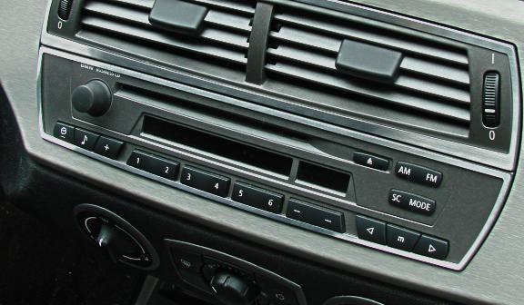 1 Aluminium Dekorrahmen für das Radio