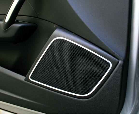 1 Set Aluminium Dekorrahmen für Lautsprecher vorne