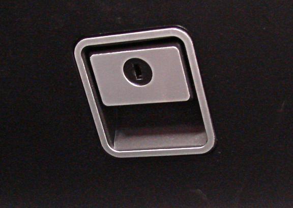 1 Set Aluminium Dekorblende für das Handschuhfach/ Griff und Blende