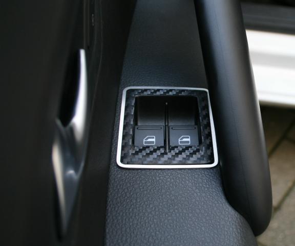 1 Set Aluminium Dekorrahmen für die Fensterheberschalter