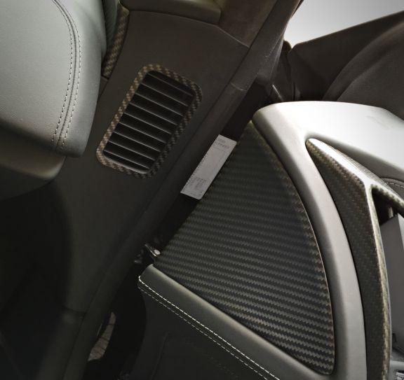 1 Set Carbon Dekorrahmen für die Luftdurchführung in der Tür