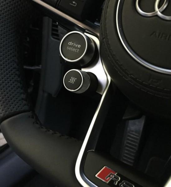 1 Set Aluminium Dekorrahmen für das Lenkrad (DriveSelect & Start-Knopf)