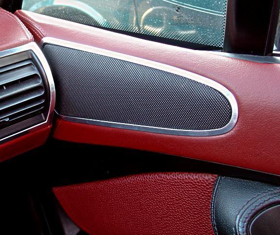 1 Set Aluminium Dekorrahmen für Lautsprecher in den Türen