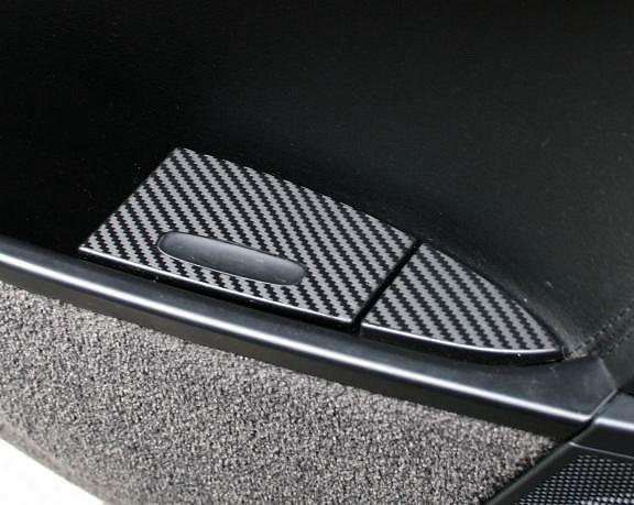 1 Set Foliendekor in Carbonoptik für den Aschenbecher hinten