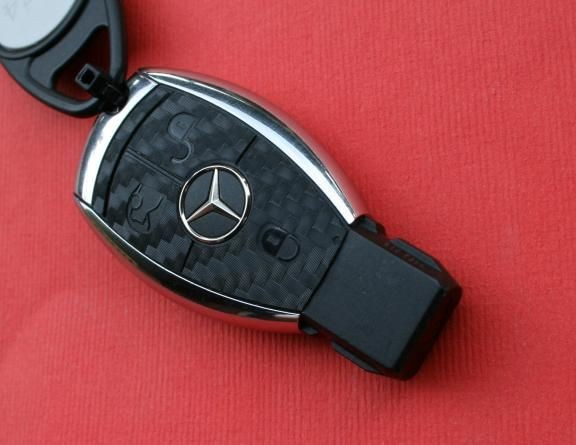 #5 Schlüssselfolie in Carbonoptik Mercedes Benz Modelle