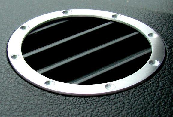 1 Set Aluminium Dekorringe für die Defrsotrdüsen im TT Design