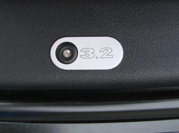 1 Set Aluminium Dekorblenden für die Türsensoren mit Gravur 3.2