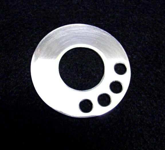 1 Aluminium Dekorblende für den Gebläseregler