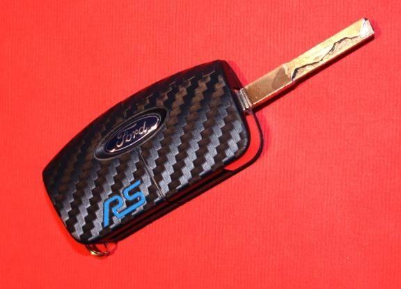 #5 Schlüsselfolie in Carbonoptik Ford Modelle RS
