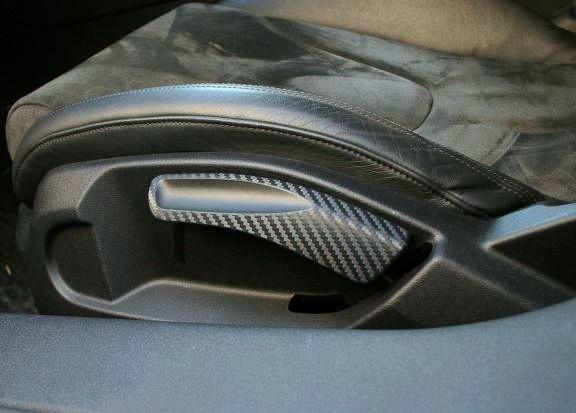 1 Set Foliendekor in Carbonoptik für die Sitzverstellung