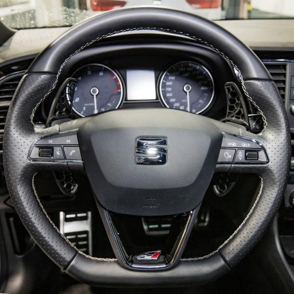 """Schaltwippen """"HG-Design"""" für Seat Leon 5F in schwarz beschichtet"""