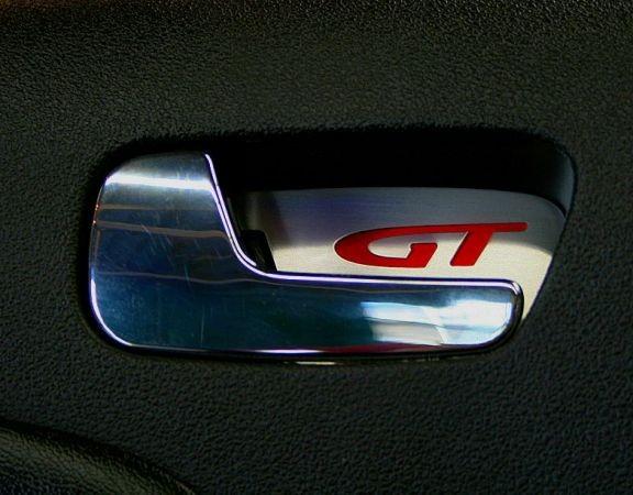 1 Set Aluminium Dekorblenden für die Türöffner mit rotem GT Logo