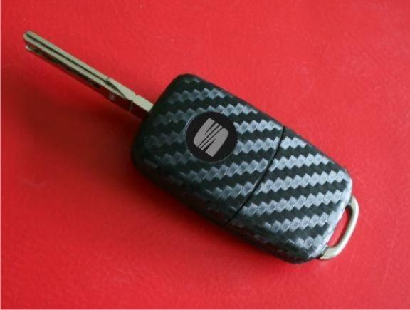 #3 Schlüsselfolie in Carbonoptik Seat Modelle mit der LED oben