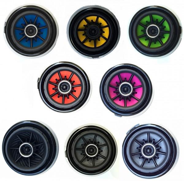 1 Foliendekor für die Lüfterdüsen in verschiedenen Farben