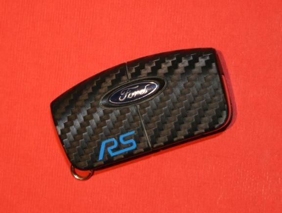 #8 Schlüsselfolie in Carbonoptik Ford Modelle RS Key Free