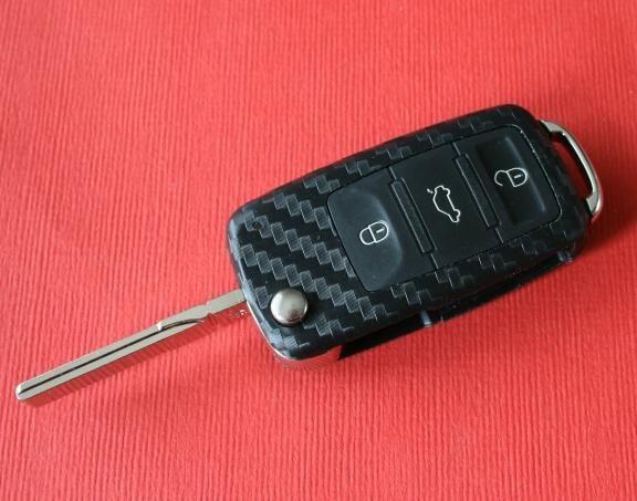 #3 Schlüsselfolie in Carbonoptik Audi Modelle LED oben