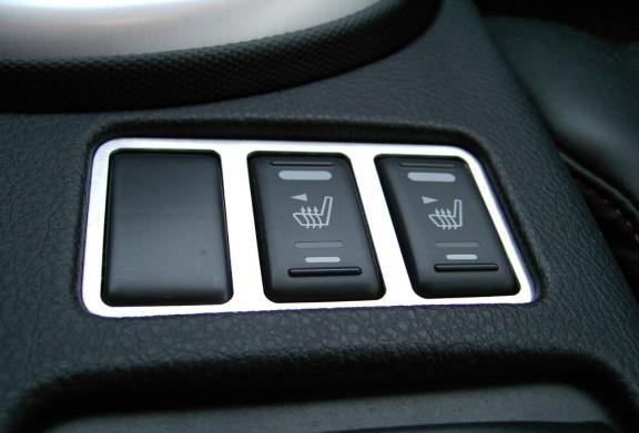 1 Aluminium Dekorrahmen für die Schalterleiste Sitzheizung (nur Facelift)