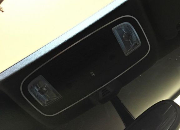 1 Aluminium Dekorleiste für die Innenraumbeleuchtung (große Version)