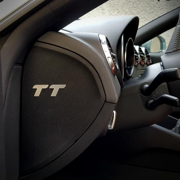 1 Set Aluminium TT Logoeinleger Sicherungsdeckel