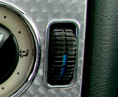 1 Set Aluminium Zierblenden für die Temperaturschalter der Klimaanlage