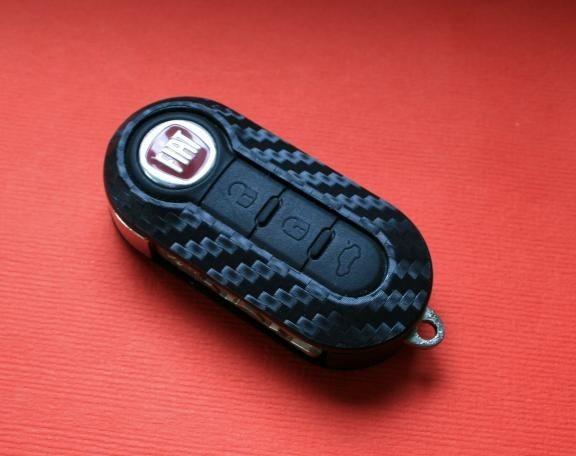 #1 Schlüsselfolie in Carbonoptik Fiat Modelle