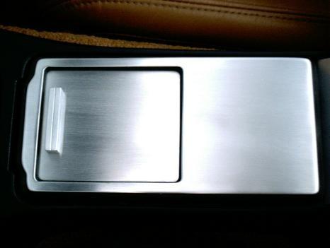 1 Set Aluminium Dekor Abdeckung und Schiebeklappe für Mittelkonsole