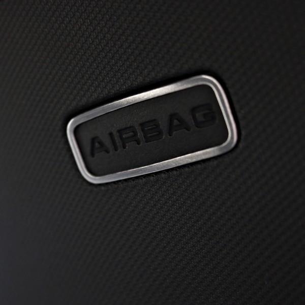 1 Set Aluminium Dekorrahmen für das Airbag Logo in der B-Säule
