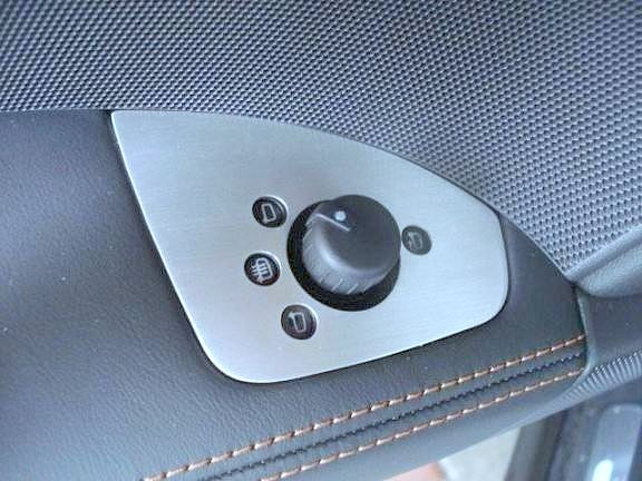 1 Aluminium Dekorrahmen für die Spiegelverstellung inkl. anklappbaren Spiegeln