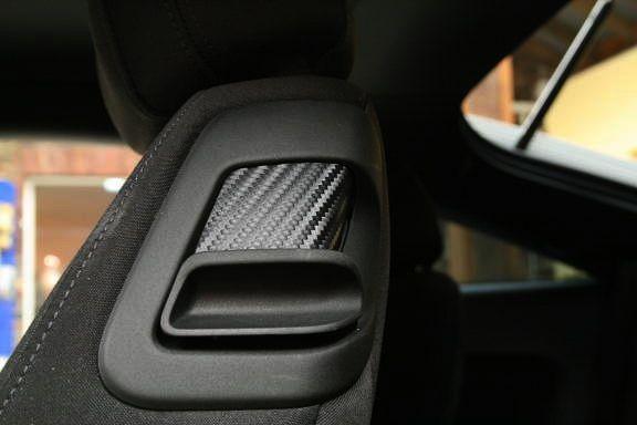 1 Set Foliendekor in Carbonoptik für die Umklappfunktion der Sitze