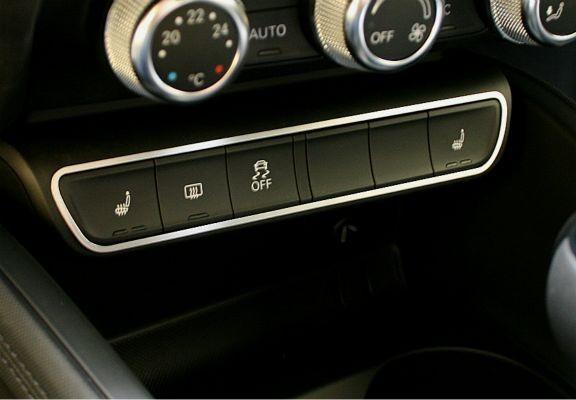 1 Aluminium Dekorrahmen für die Schalterleiste Sitzheizung/ESP/Heckscheibenheizung