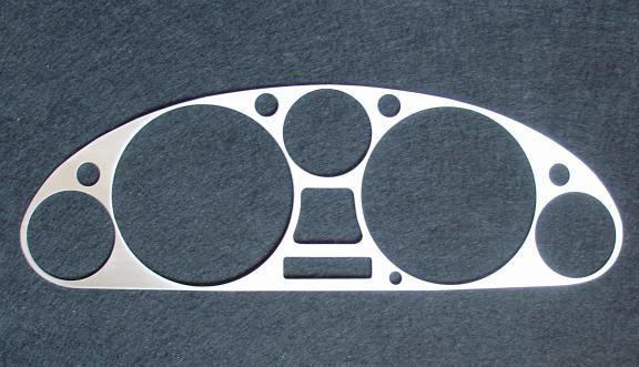 1 Aluminium Dekorblende Tachomaske