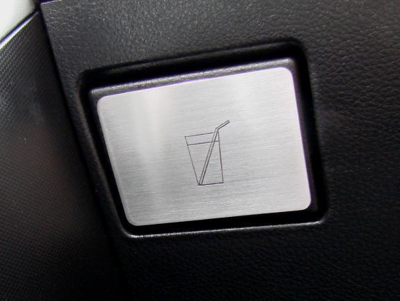 1 Aluminium Dekorblende für den Becherhalter inkl. Gravur