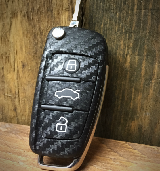#2 Schlüsselfolie in Carbonoptik Audi Modelle