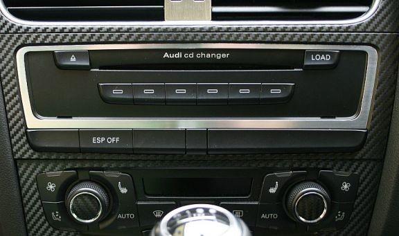 1 Aluminium Dekorrahmen für den CD-Wechsler