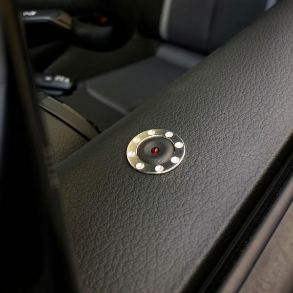 1 Aluminium Dekorring für den Türsensor/ Alarmanlage